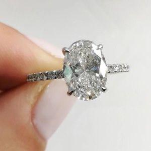 Jewelry - 14k white gold engagement ring wedding 2ct diamond
